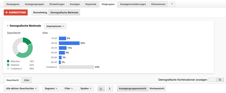 Google Ads Targeting Demograpic