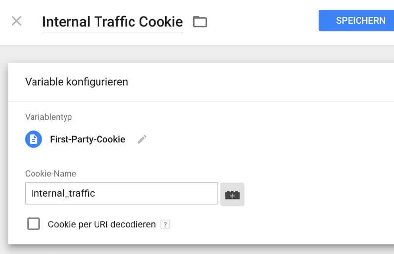 Internal Traffic Cookie GTM